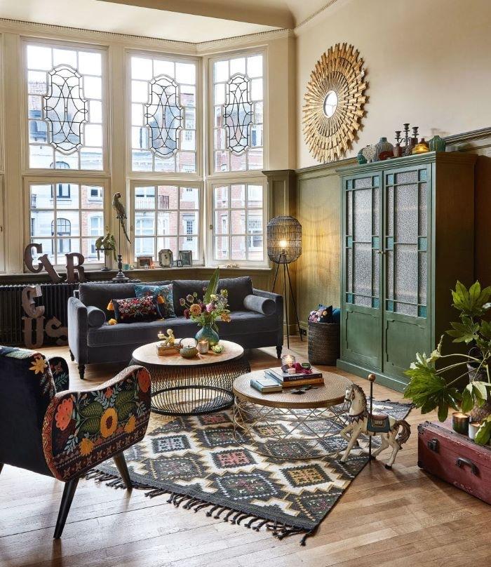 alfombra-kilim-de-lana-y-algodón-multicolor de Maisons du Monde
