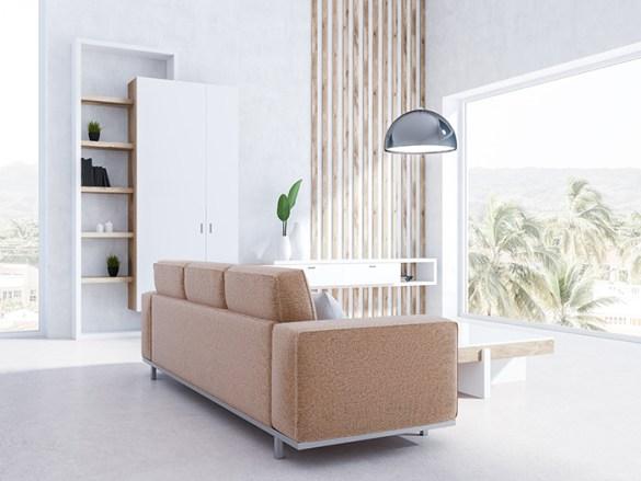 Salón luminoso muebles robotizados