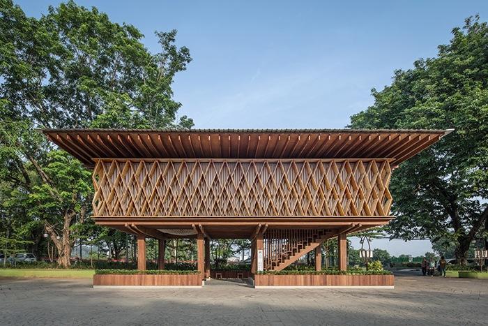 Ganador concurso arquitectónico ArchDaily 2021 exterior proyecto librería