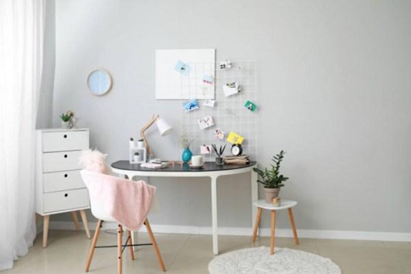 Escritorio organización imágenes moodboard diseño de interiores