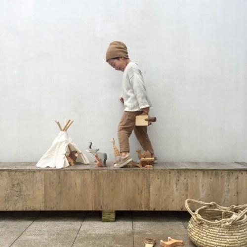 Set de herramientas de madera para jugar los niños