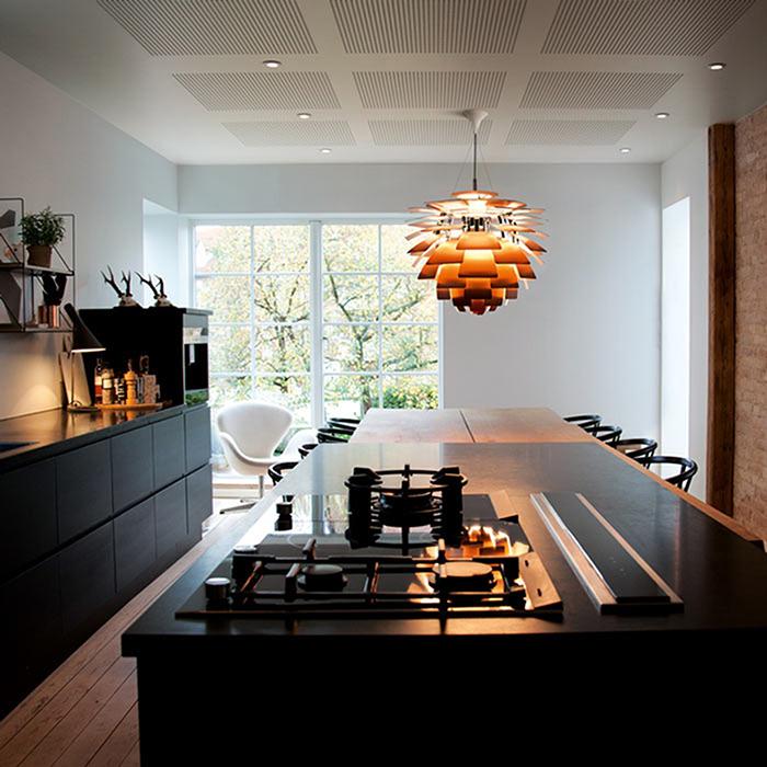 Lámpara PH Artichoke de metal fabricada por Louis Poulsen y diseñada por Poul Henningsen