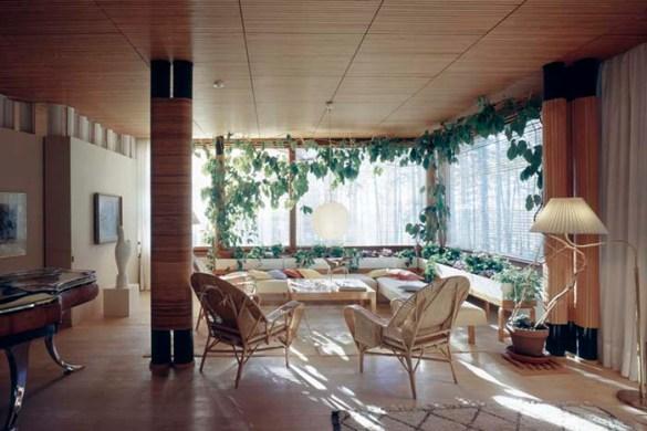 Proyecto arquitectura sensorial Villa Mairea ambiente y decoración interior