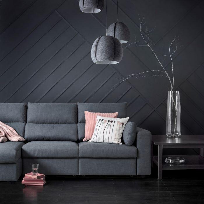 Sofá oscuro ESKILSTUNA de IKEA a precio rebajado