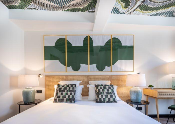 Habitación del hotel suites con decoración de Maisons du Monde