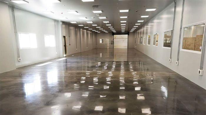 Pavimento interior de pulido de hormigón brillante