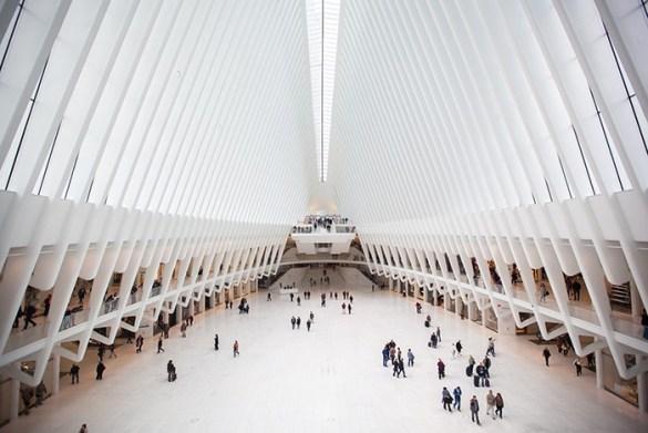 Edificio The Oculus visto desde el interior