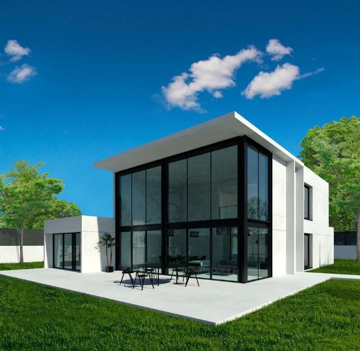proyecto casa prefabricada hormigón