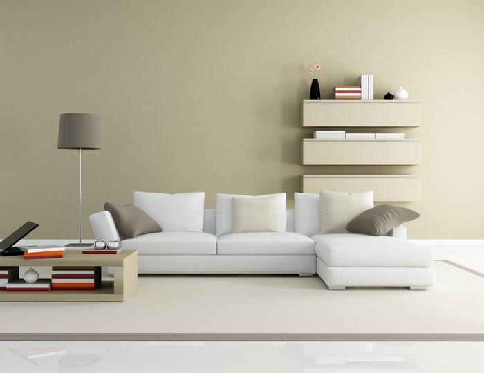 estilo minimalista en el salón