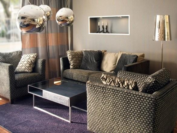 decoración salón al estilo glam