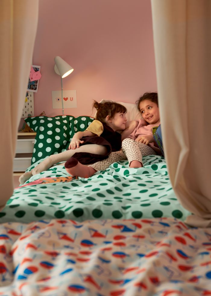 Funda-nordica-y-funda-de-almohada-IKEA-para-dormitorio-de-ninos