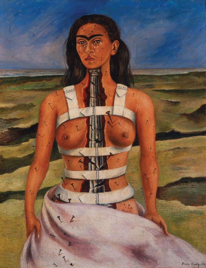 Obra pictórica de Frida Kahlo La columna rota