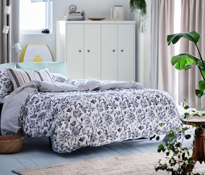 Funda nórdica y dos almohadas de IKEA
