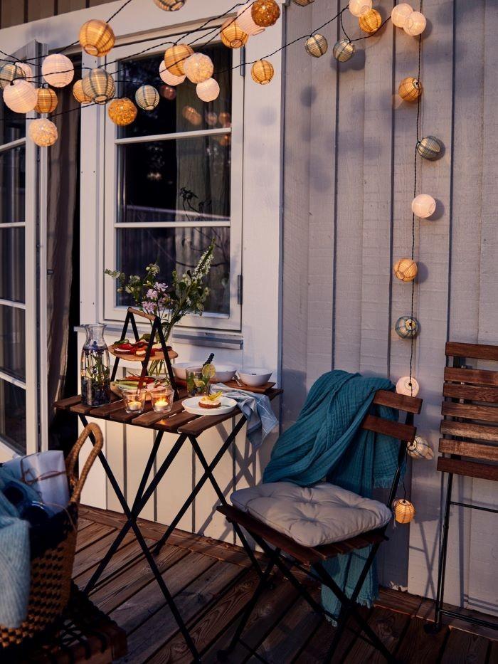 silla plegable de madera para exterior IKEA