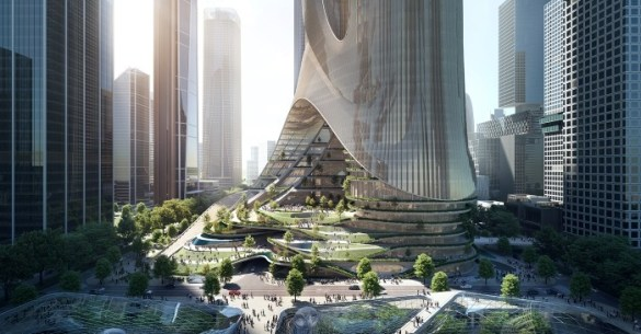 pies rascacielos china