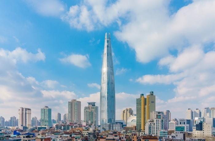 rascacielos metalico seul