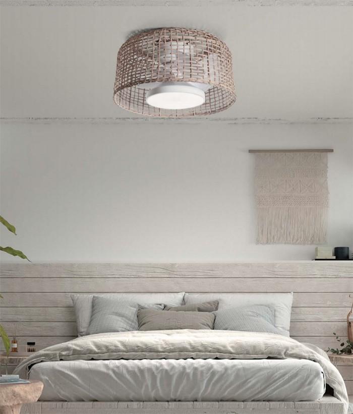 dormitorio ventilador lampara sin aspas