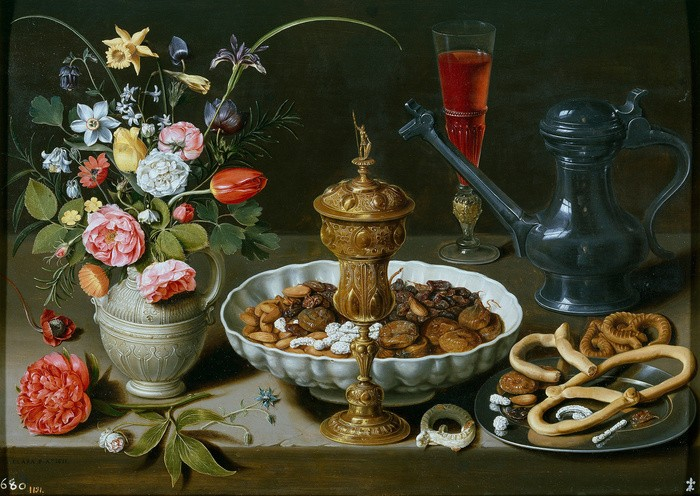 Obra pictórica Bodegón con flores de Clara Peeters