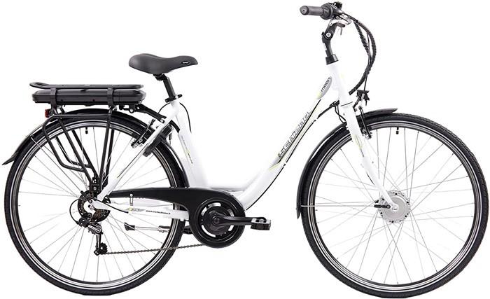 bicicleta blanca bonita