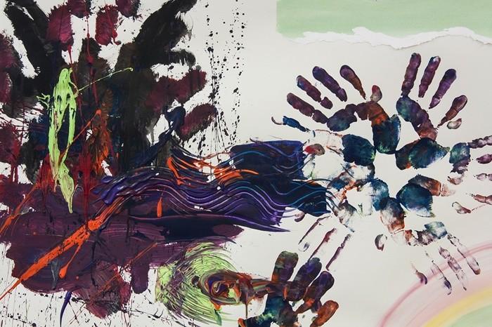 arte manos pintura colores