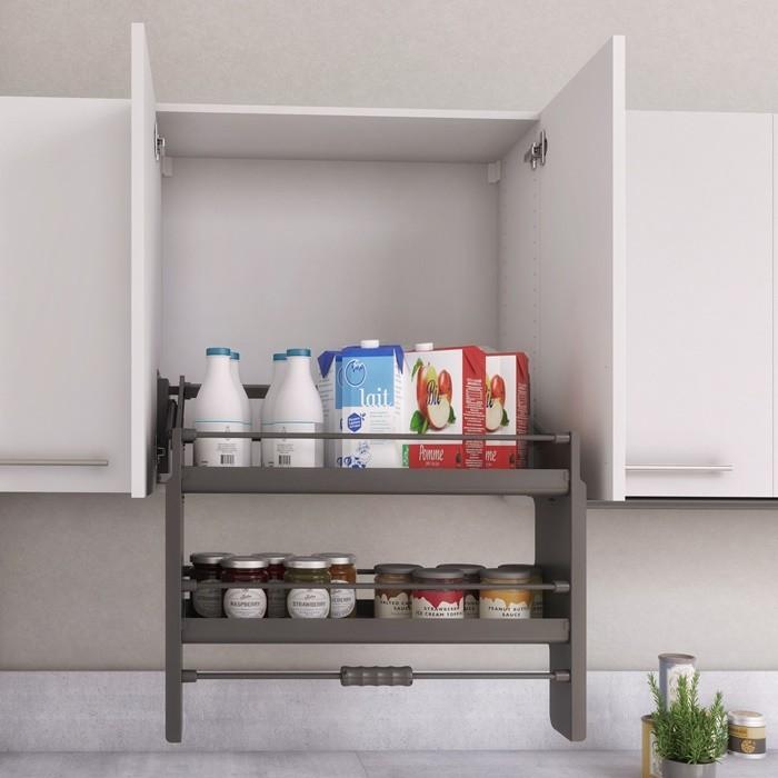 armario blanco organizador gris cocina