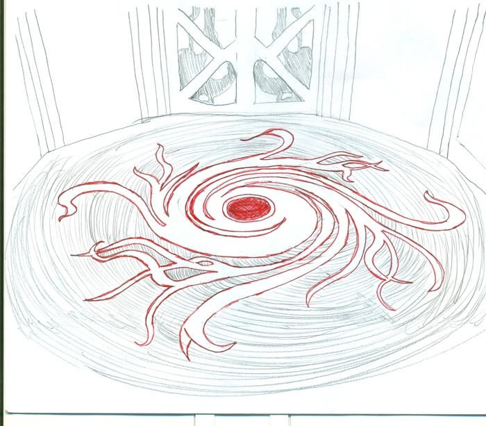 Detalle croquis del pavimento de la Casa Tassel