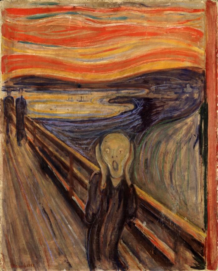 Obra pictórica El grito de Edvard Munch