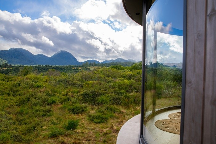 ventanas grandes cielo montañas