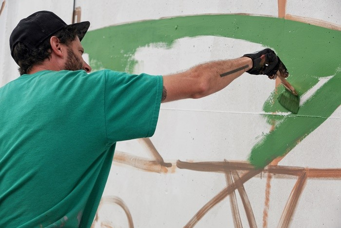 pintor mural gorra bmurals