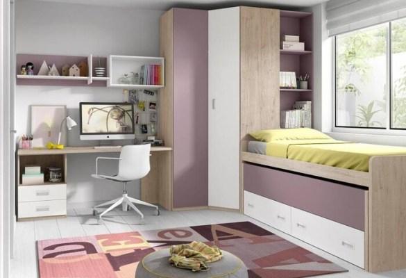 habitación decoracion juvenil tonos claros