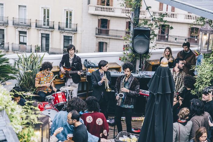 terraza músicos Hotel Pulitzer de Barcelona