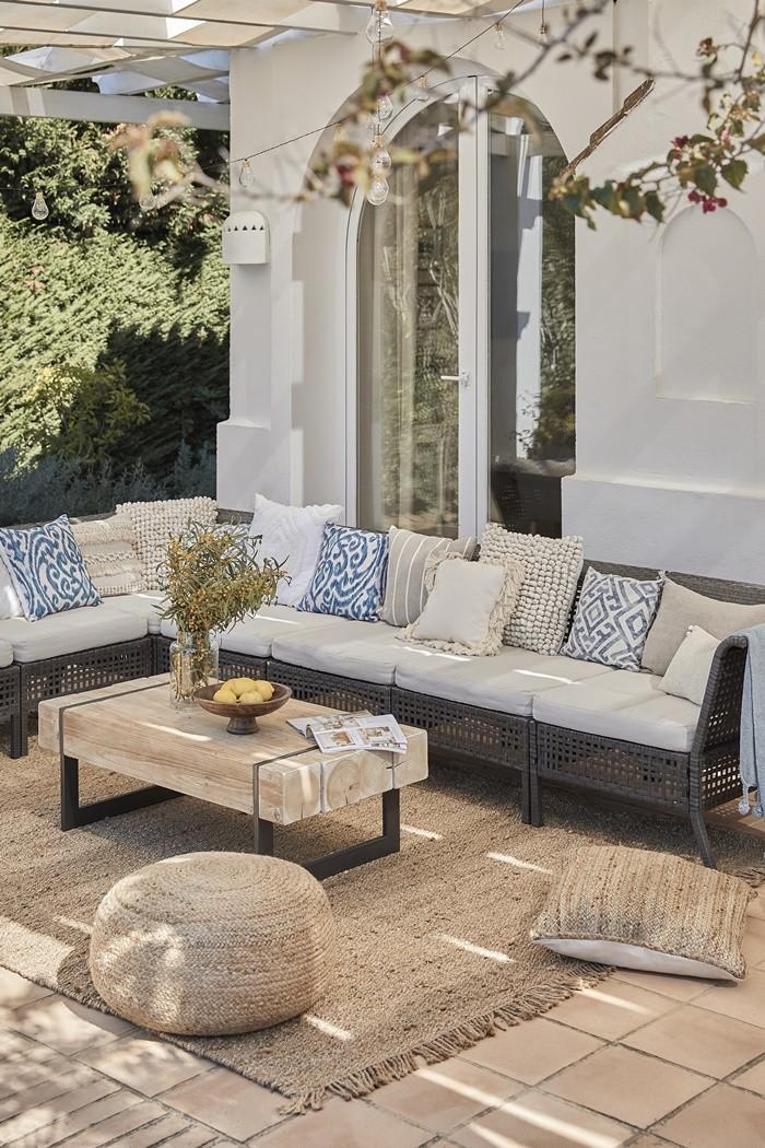 sofa grande mesa exterior
