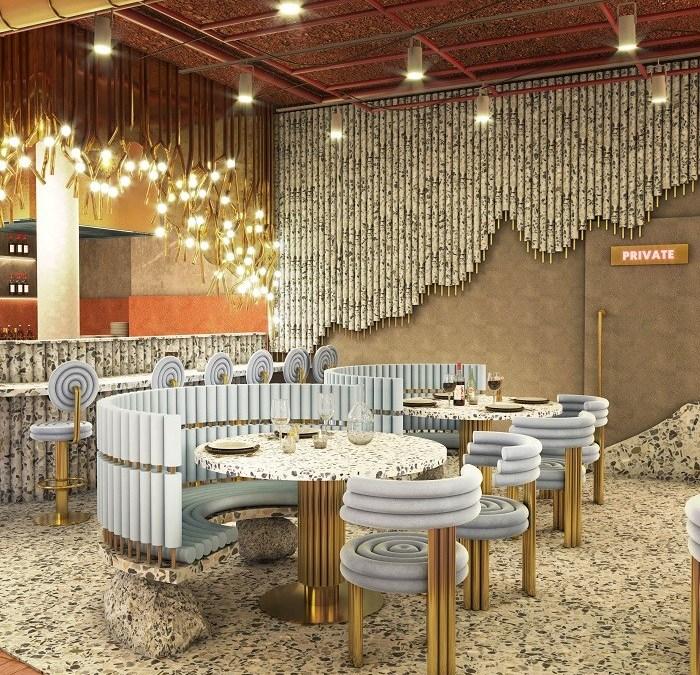 """Restaurante """"virtual"""" de Masquespacio que muestra la colección diseñada para Essential Home"""
