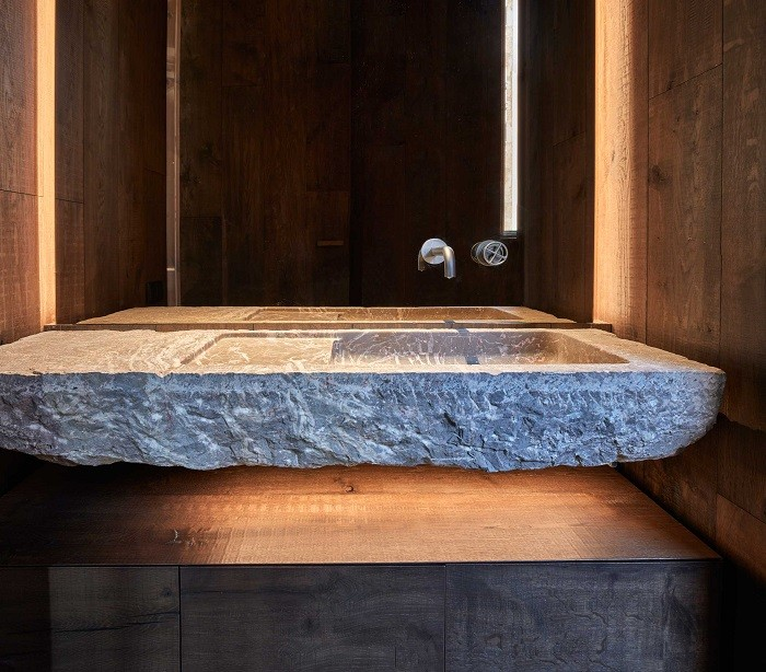 Lavabo de piedra de iberian modern house