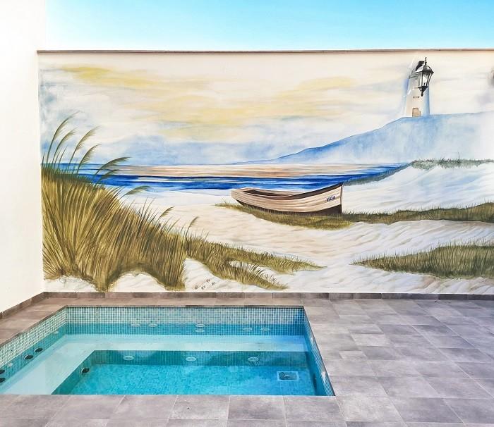Pintura mural para exterior