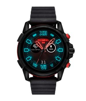 reloj tipo smartwatch en color negro de marca Diesel