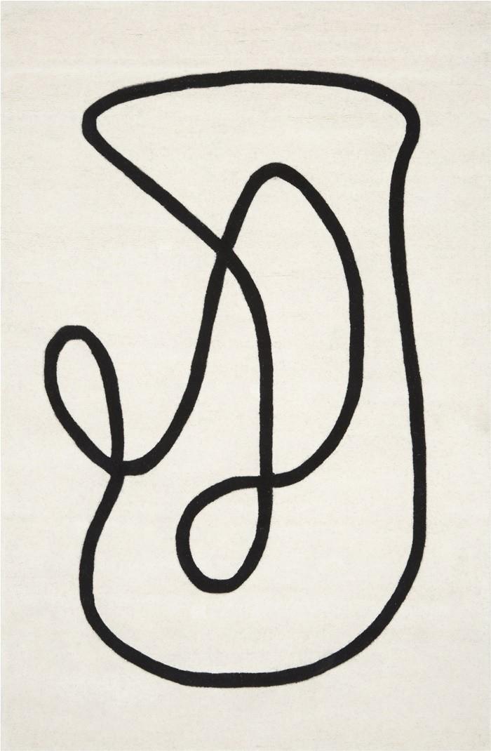 alfombra lineas curvas abstractas