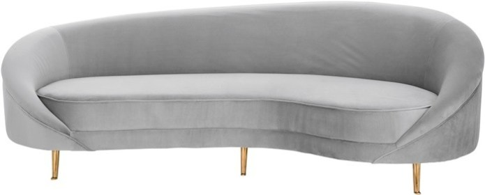 sofa gris patas doradas
