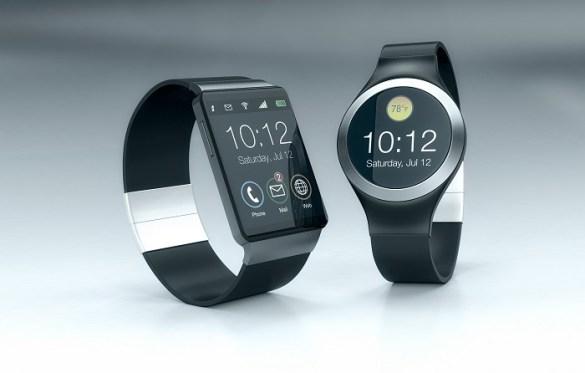 dos relojes smartwatch negros con diferentes estilos de diseño