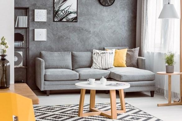 mesa pequeña redonda blanca patas madera