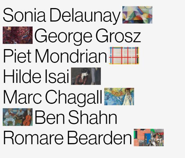 todos los artistas migrantes de la docuweb del museo Thyssen
