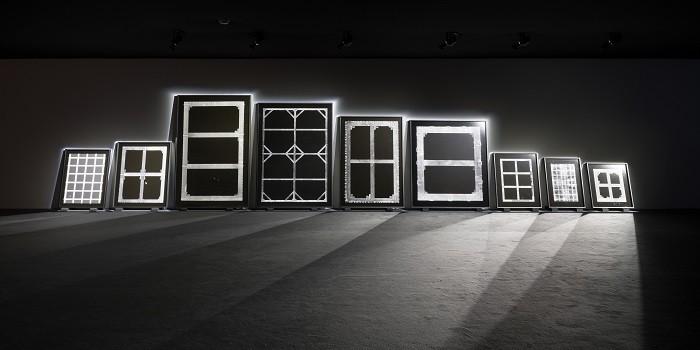 foto en blanco y negro de la colección de arte de Walid Raad en el museo Thyssen