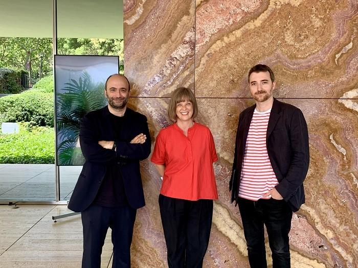 tres arquitectos que son los comisarios de la XV BEAU