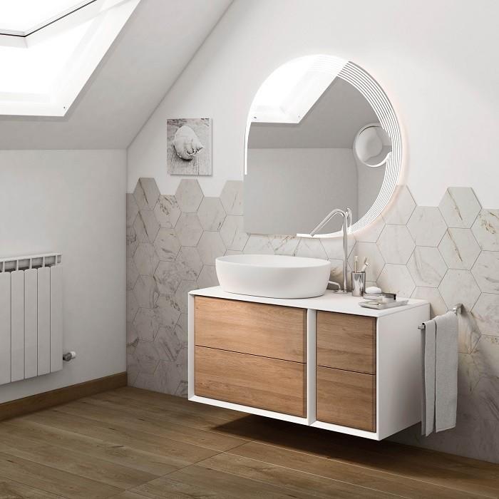 cuarto de baño en color blanco de Leroy Merlin