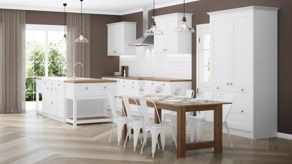 cocina moderna en color blanca