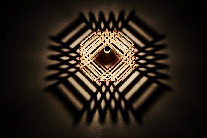 diseño de lámpara con efecto a oscuras