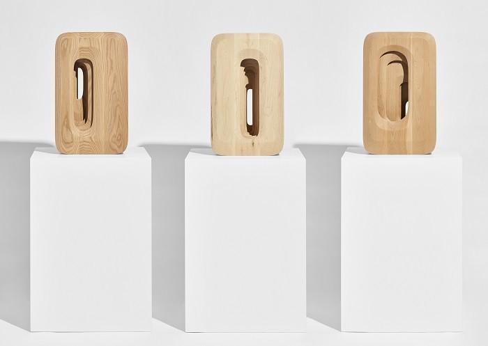 formas de madera con relieve