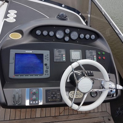 yacht cockpit wrapping
