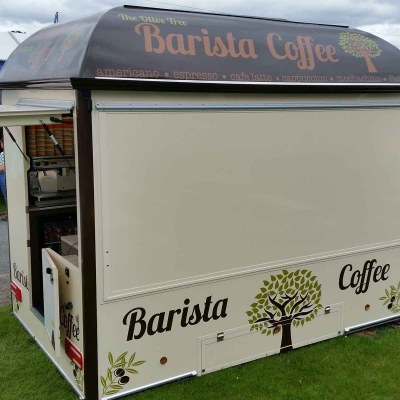coffee kiosk unit signs