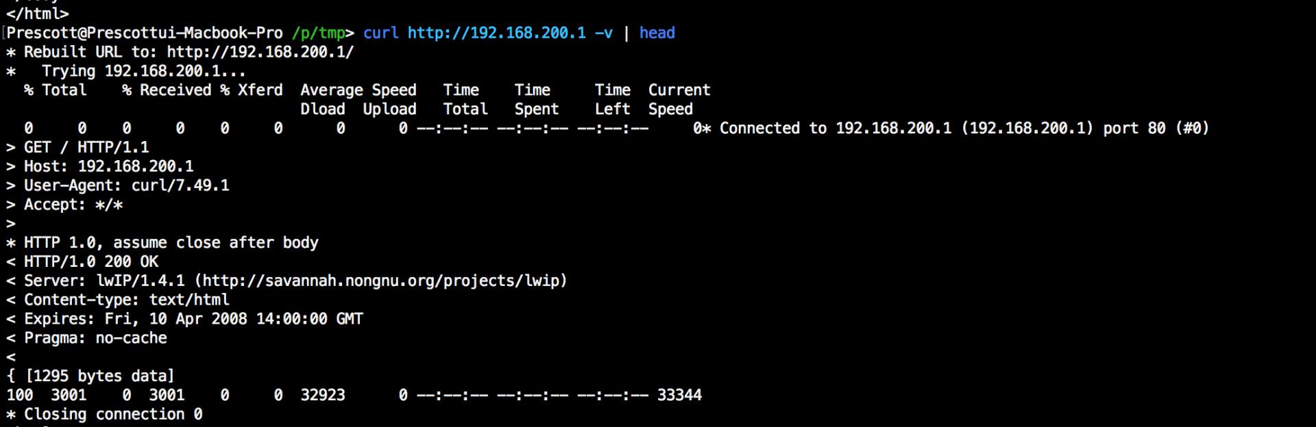 lwIP로 구현된 웹서버